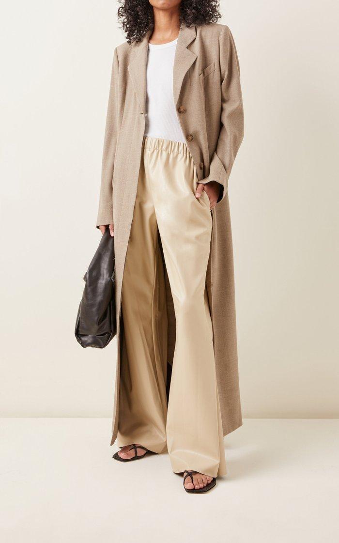Savannah Vegan Leather Wide-Leg Pants