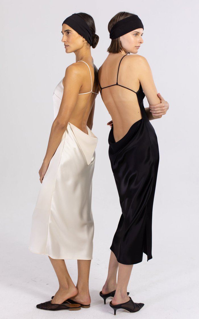 Lola Satin Midi Dress