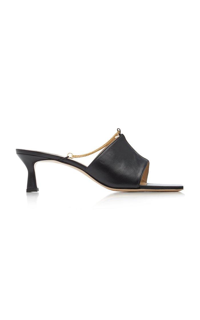 Isa Embellished Leather Sandals