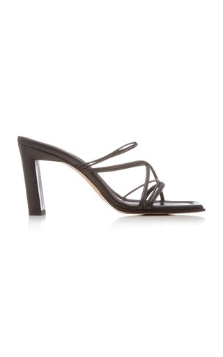 Joanna Two-Tone Leather Sandals