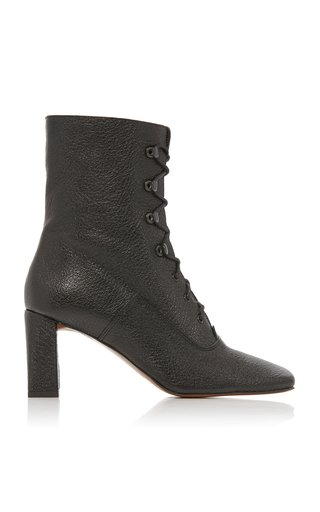 Claude Textured-Leather Ankle Boots
