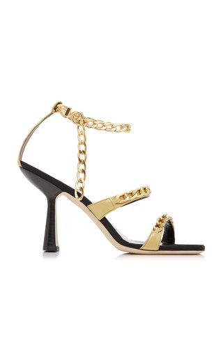 Gina Embellished Leather Sandals