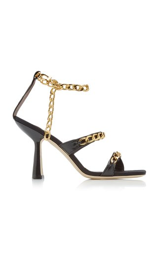 Gina Embellished Leather Sandals