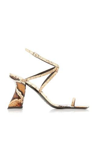 Elsa Snake-Effect Leather Sandals