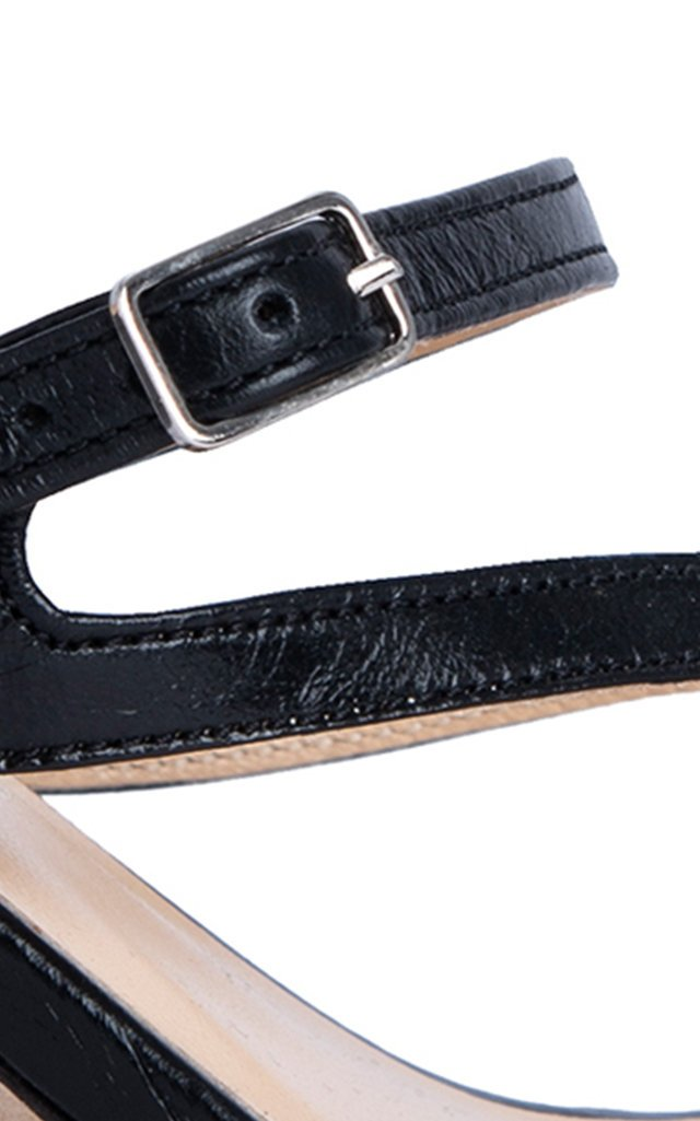 Desiree Textured-Leather Sandals
