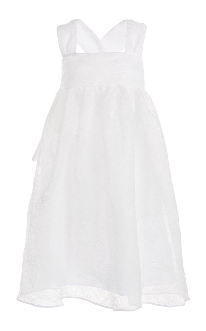 Pandora Textured Organza Midi Dress