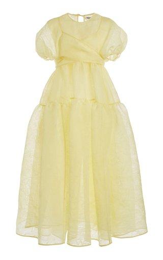 Anna Textured Organza Wrap Dress