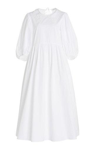 Mette Lace-Trimmed Cotton Midi Dress