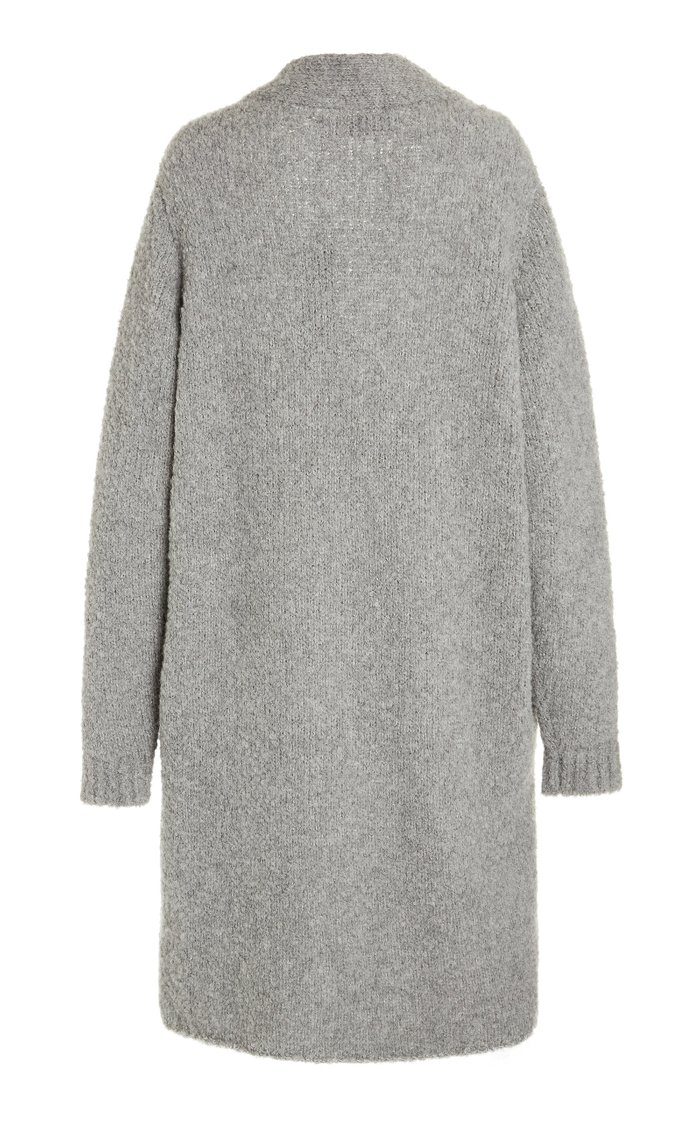 Cashmere-Blend Teddy Duster Cardigan