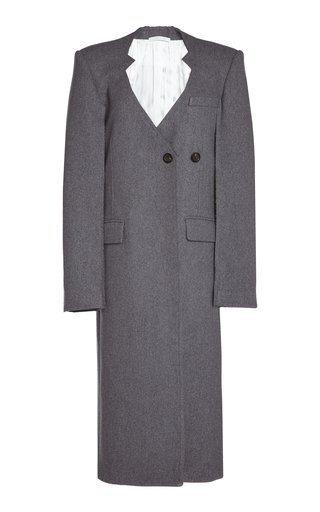 Oversized Cutout Wool Coat