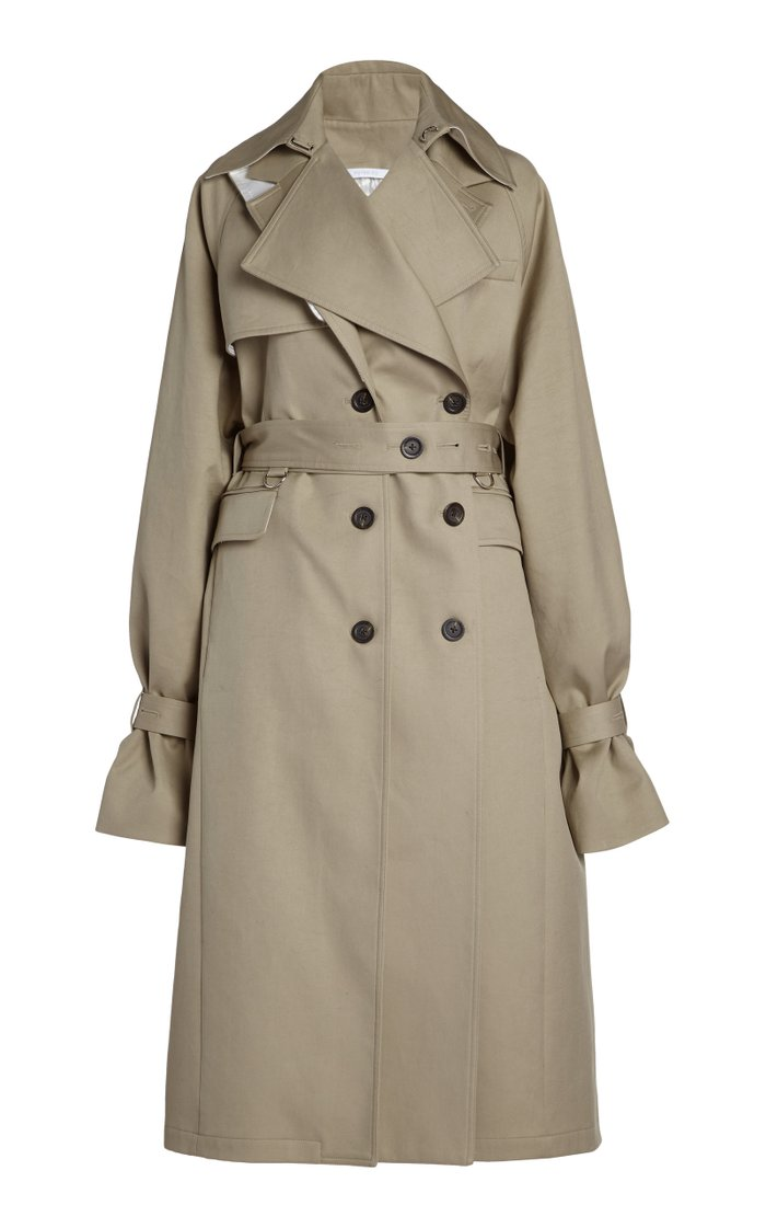 Convertible Oversized Cotton Trench Coat