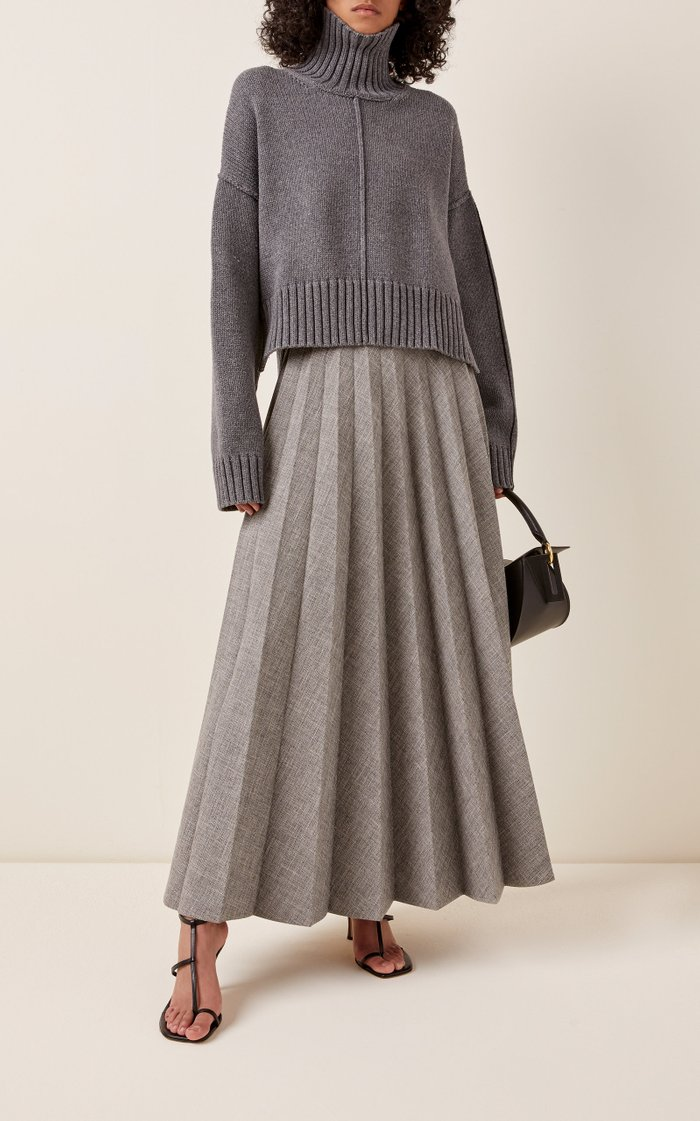 Oversized Ribbed-Knit Turtleneck Sweater