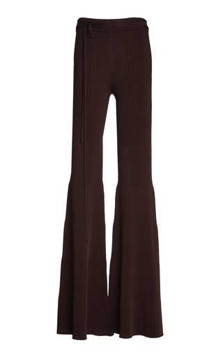 Knit Flared-Leg Pants