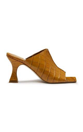 Zohara Croc-Effect Leather Mules