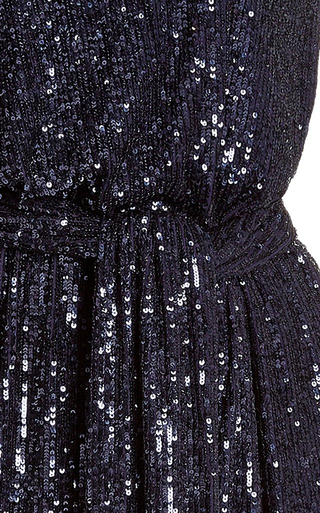 Sequined One-Shoulder Mini Dress