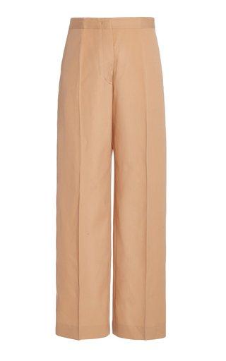 Nicholas Wool Wide-Leg Pants