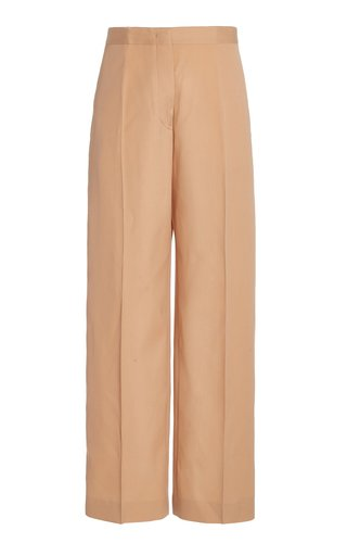 Nicholas Wool Wide-Leg Pants