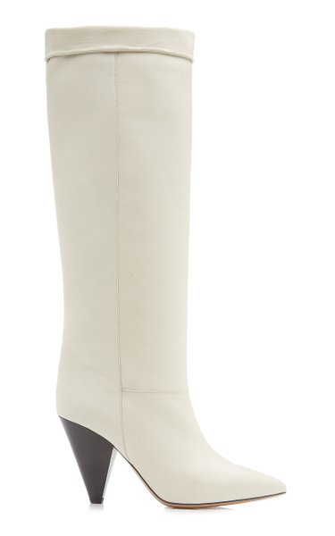 Loens Leather Knee Boots