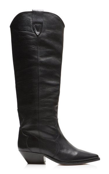 Denvee Leather Knee Boots