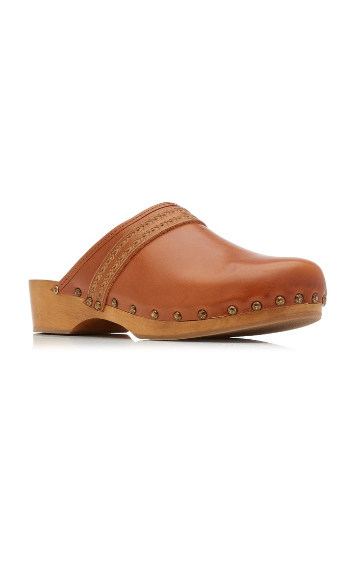Thalie Studded Leather Clogs