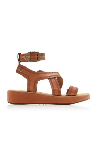 Nuriee Leather Platform Sandals