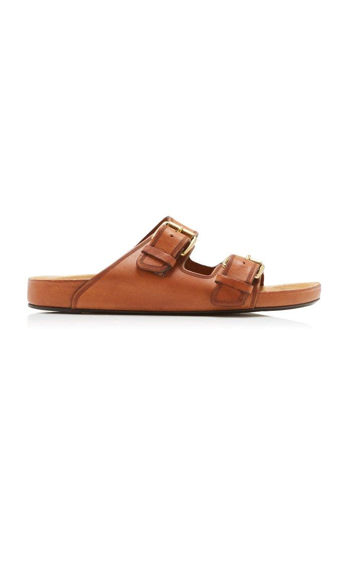 Lennyo Leather Slides