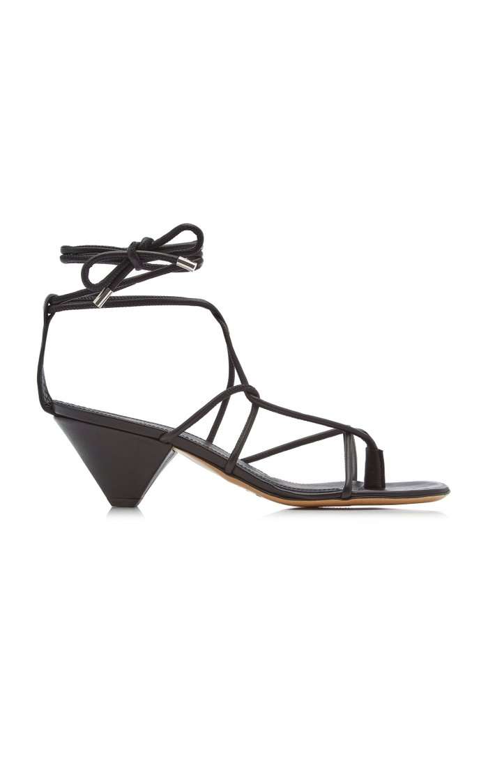 Allua Lace-Up Leather Sandals