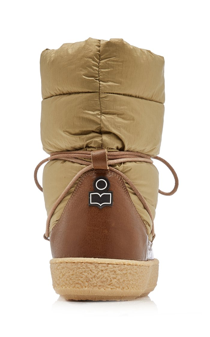 Zimlee Leather-Trimmed Nylon Puffer Boots