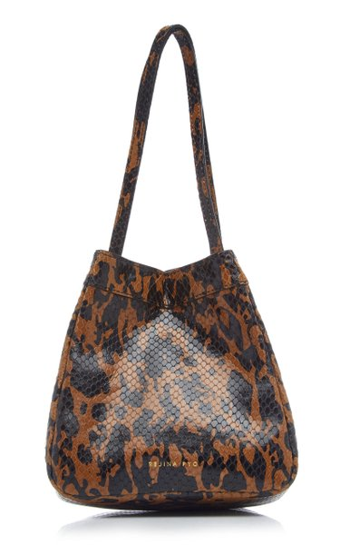 Rita Animal Print Leather Top Handle Bag