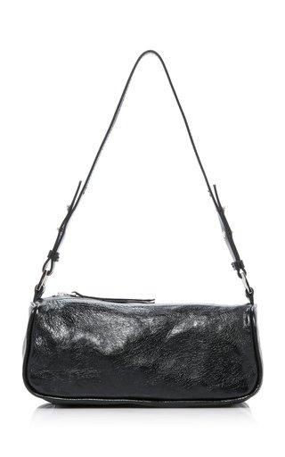 Eve Crinkled-Leather Shoulder Bag
