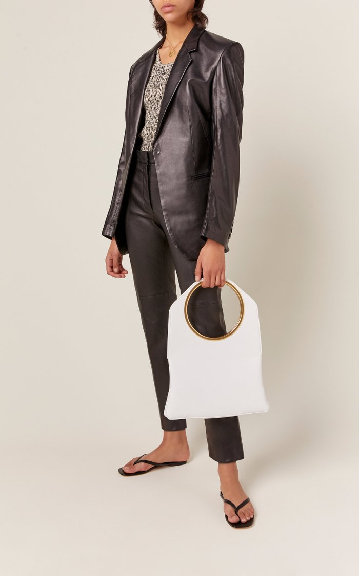 Samantha Leather Top Handle Bag