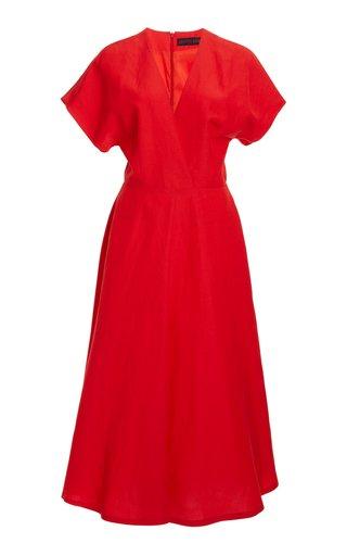 A-Line Linen-Blend Dress