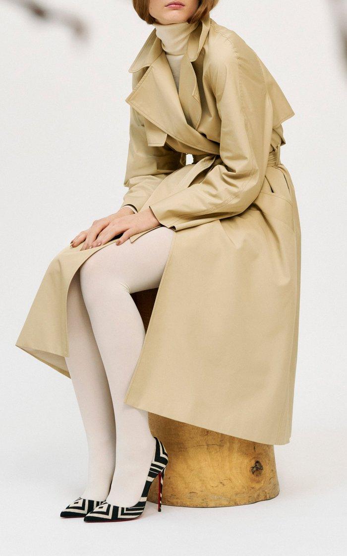 Voluminous Gabardine Trench Coat