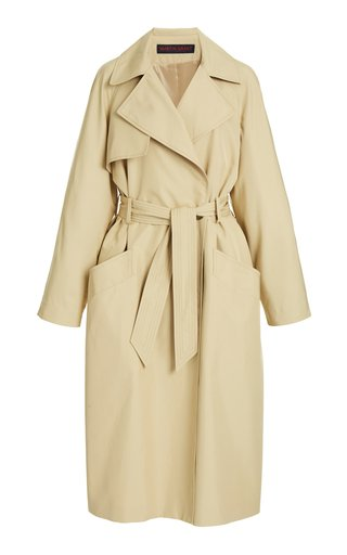 Voluminous Gabardine Trench Coat