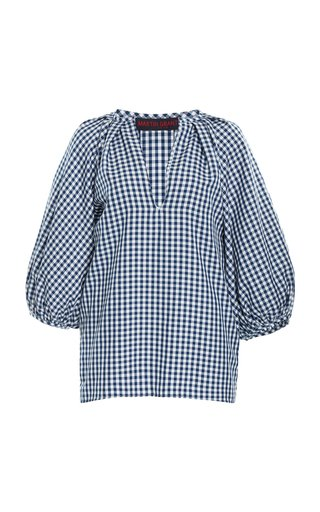 Gathered Gingham Top