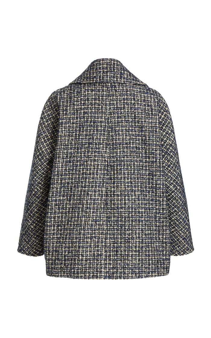 Wool-Blend Tweed Double-Breasted Jacket