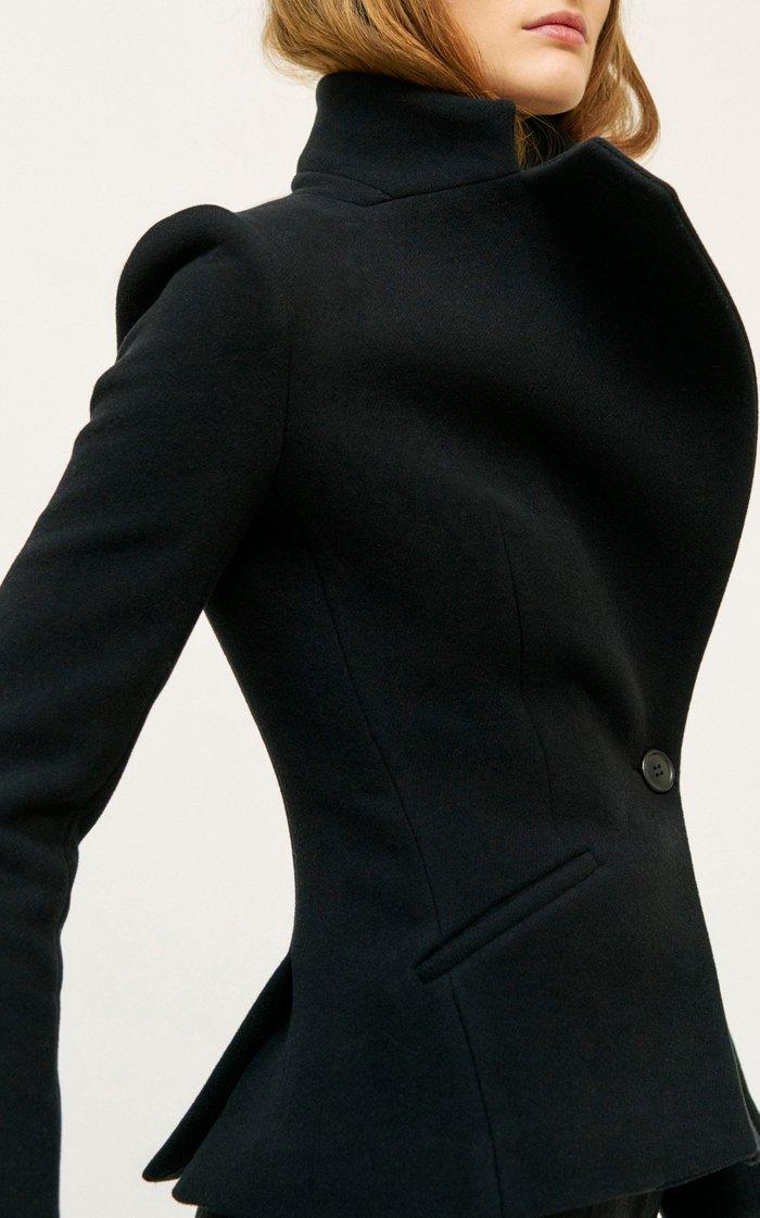 Asymmetric Wool-Blend Jacket