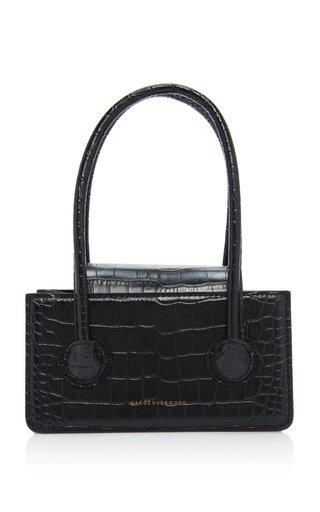 Grandma Mini Croc-Effect Leather Top Handle Bag