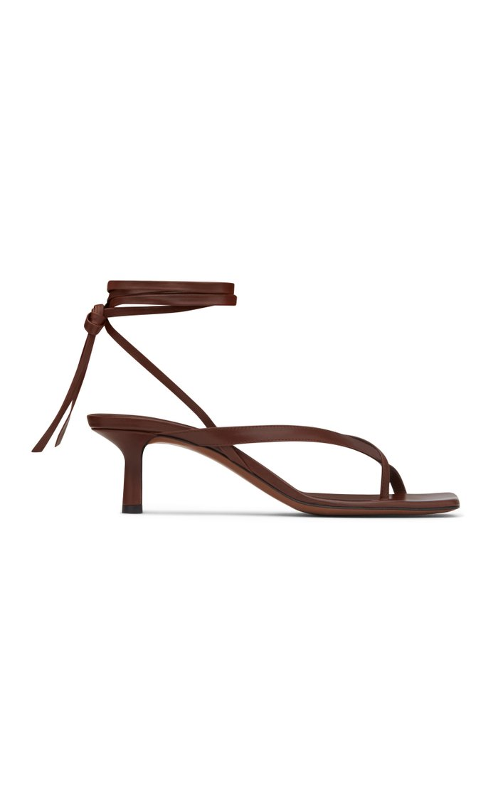 Situla Lace-Up Leather Sandals
