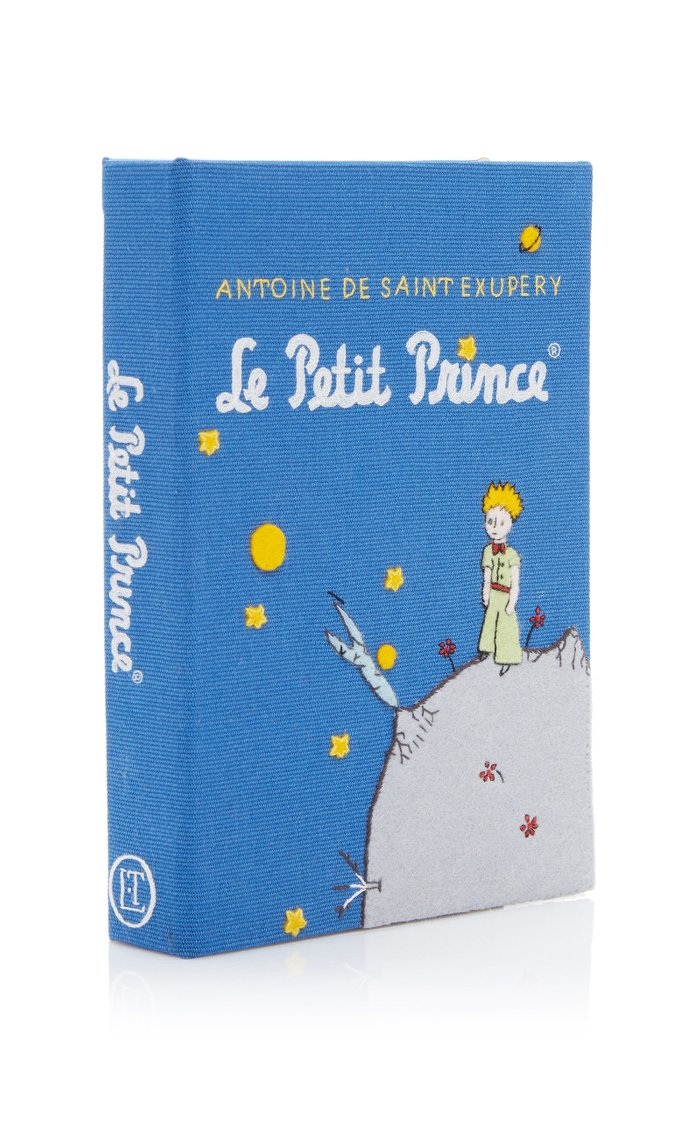 Le Petit Prince Appliquéd Canvas Book Clutch