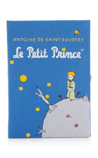 Le Petit Prince Appliquéd Canvas Book Clutch