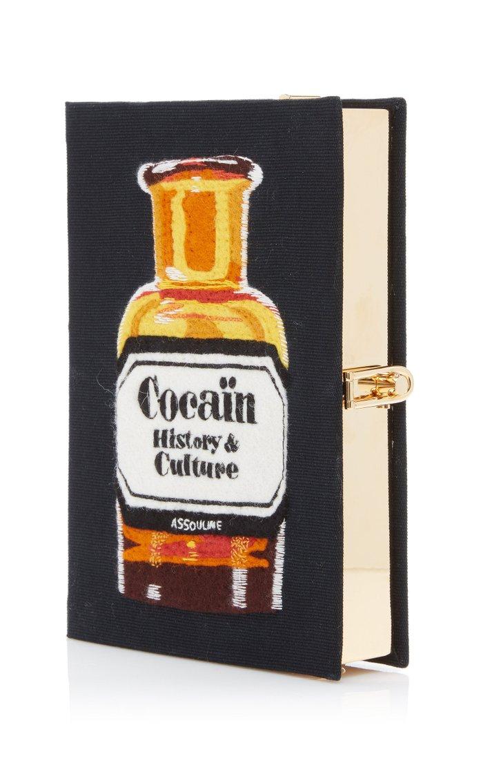 Cocaïn: History & Culture Appliquéd Canvas Book Clutch