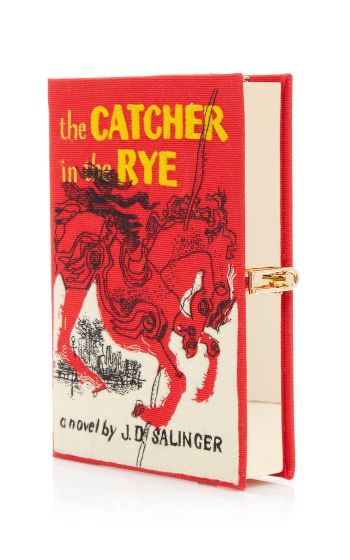 The Catcher In The Rye Appliquéd Canvas Book Clutch