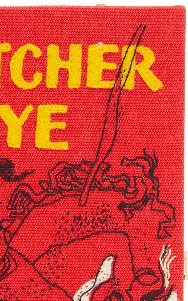 The Catcher In The Rye Appliquéd Canvas Book Clutch
