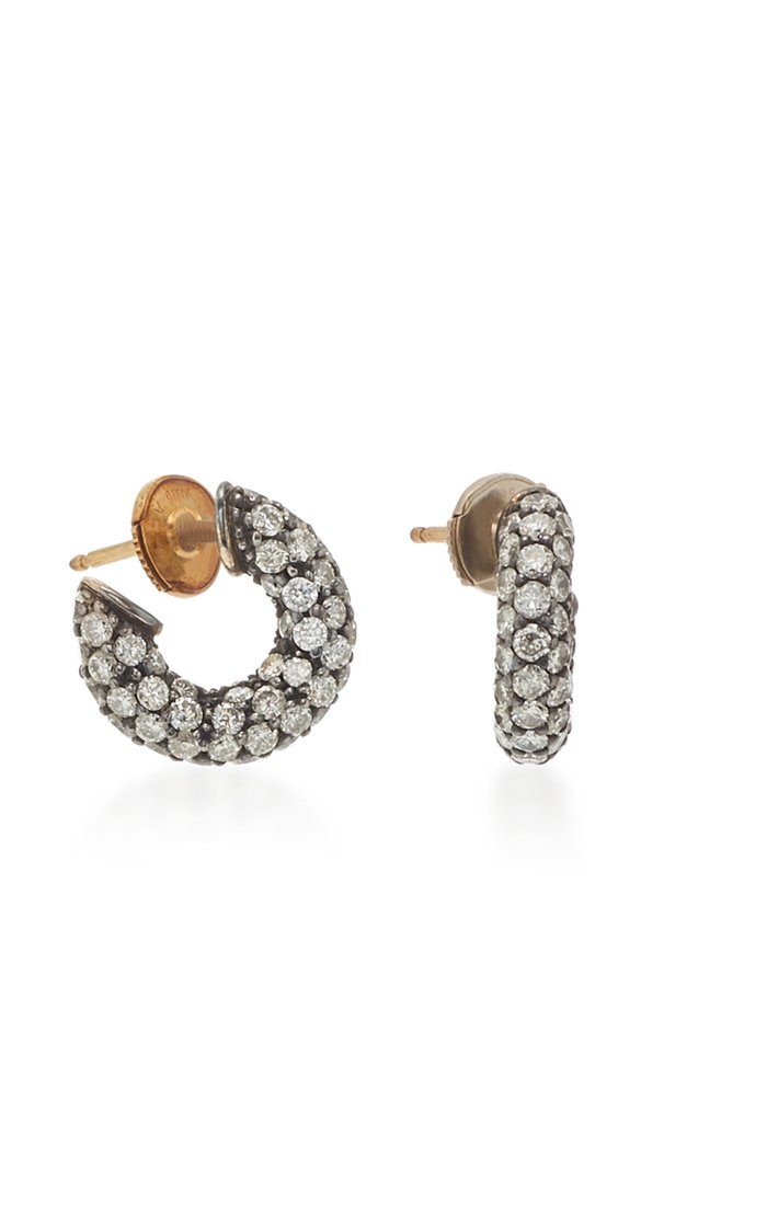Pirate 18K Gold, Oxidized Silver And Diamond Earrings