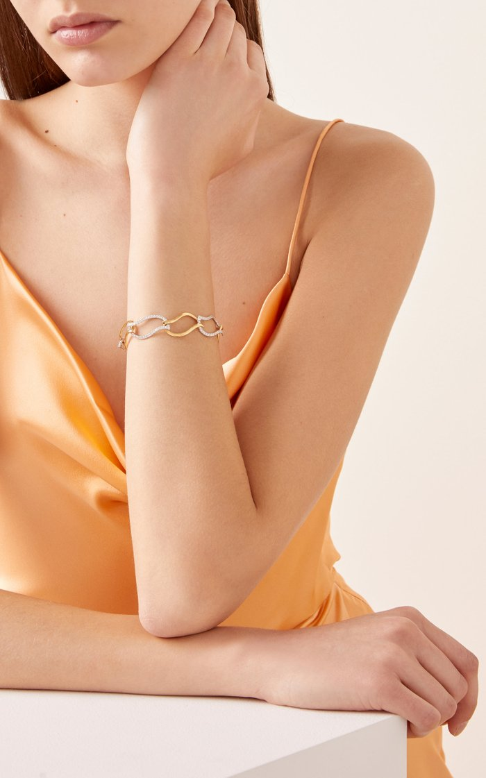 Flame 18K Gold And Diamond Bracelet