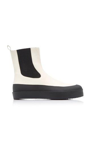 Zaniah Platform Leather Ankle Boots