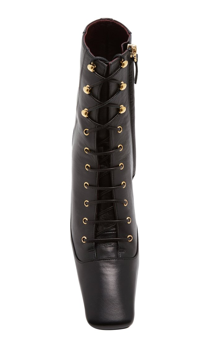 Duck Lace-Up Leather Boots