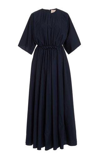 Manu Gathered Cotton Maxi Dress