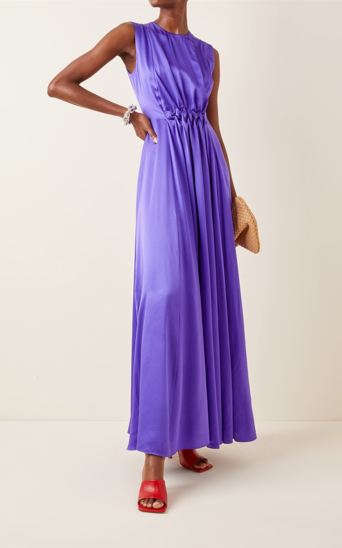 Alesis Shirred Silk Gown